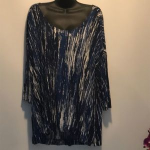 """Willi Smith Woman's 3/4"""" Sleeve Blouse size 2X"""
